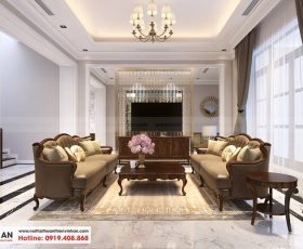 Thiết kế nội thất biệt thự song lập - Vinhomes Imperia - Nhà anh Điệp