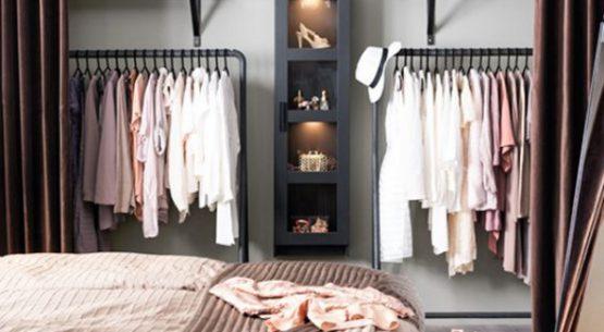 Bí quyết làm gọn không gian để đồ với tủ gắn tường